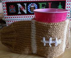 CHRISTMAS GIFT-FOOTBALL BEVERAGE MITT to KEEP YOUR HAND WARM  DRINKING BEVERAGES #Handmade #BEVERAGEMITT #OUTSIDEEVENTS