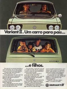 Propaganda do Volkswagen Variant II em 1978.