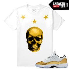 Gold 11s t shirt match | Sneaker Match Tees Gold 11s