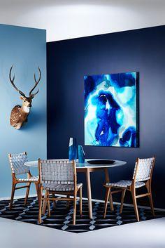 Haymes Condare (light blue) & Stormy Blue (dark blue).