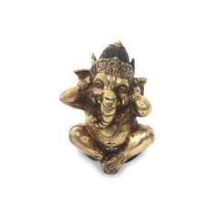 NOVICA Hindu Art Ganesha Antiqued Bronze Statuette Crafted in Bali (€42) ❤ liked on Polyvore featuring home, home decor, clothing & accessories, metallic, sculpture, elephant figure, elephant figurines, antique bronze figurines, antique bronze sculpture and novica