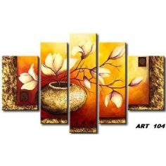 Professional Painter Team Handmade High Quality Abstract Golden Flower Oil Painting on Canvas Beautiful Vase Flower Painting Flower Painting Canvas, Oil Painting Flowers, Texture Painting, Multiple Canvas Paintings, Surealism Art, Ganesha Painting, Acrylic Painting Techniques, Home And Deco, Beautiful Paintings