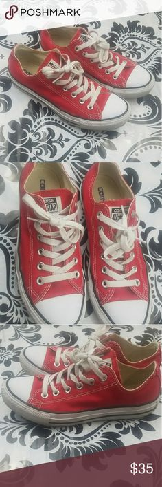 Women's red converse Women's Converse sneakers  VERY good used condition  Have been worn Women's Size 7  True red color Converse Shoes Sneakers