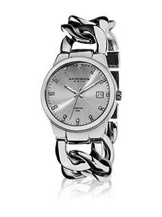 Akribos XXIV Reloj con movimiento cuarzo suizo Woman Plateado 38 mm