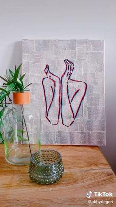 Easy Canvas Art, Simple Canvas Paintings, Small Canvas Art, Mini Canvas Art, Canvas Painting Tutorials, Diy Painting, Ideias Diy, Diy Art, Art Lessons