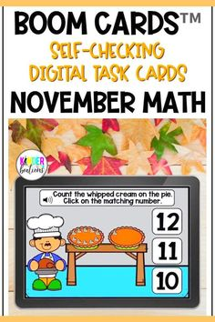 Engage your students and practice MATH SKILLS with these fall-themed Boom Cards! This October Math bundle covers a variety of skills including numbers to 20, counting, one to one correspondence, 2D shapes, and more! Perfect for Kindergarten, Preschool, and First Grade! They are perfect for centers, independent work time, small group instruction, and distance learning.