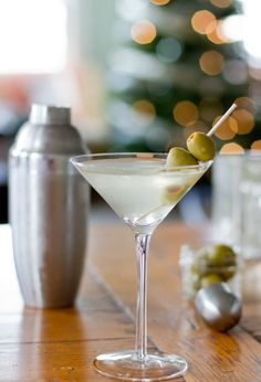 Extra-Dirty Martini: 2 1/2 shots of your favorite vodka 1/2 shot of dry vermouth 5 teaspoons of olive brine  Add some bleu cheese stuffed olives and ta-daaa!