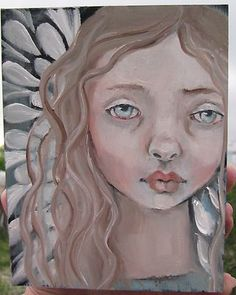 ♥ ♥ ♥ ♥ ♥ ♥  angels for moma  ♥ ♥ ♥ ♥ ♥ ♥  my mother has had a stroke  i live in colorado and she's in alabama  i have decided to paint angels for moma  and  send her cards  lots of cards  made with a print of each angel....
