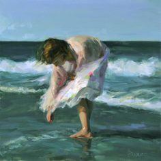Painter Johanna Harmon, Figurative Art, Artist Study for Art School Students… Figurative Kunst, Fine Art, Beach Scenes, Beach Art, Figure Painting, Painting People, Amazing Art, Art Photography, Art Gallery