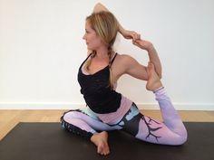Kathryn Budig Challenge Pose: Mermaid Pose (Eka Pada Rajakapotasana)