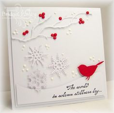 FS354 Berries and Bird by bfinlay - Cards and Paper Crafts at Splitcoaststampers