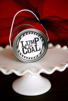 """Make this lump of coal for the boys and girls on the """"naughty list."""" Makes a fun gift idea!"""