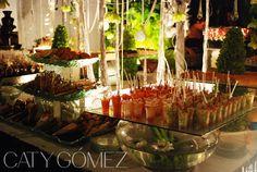 Elegantly served food... by Caty Gomez Weddings
