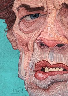 Line variation in portraits. The Rolling Stones: Illustrated Portraits by Stavros Damos | Inspiration Grid | Design Inspiration