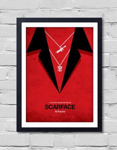 Items similar to Brian De Palma Minimalist Movie Scarface on Etsy Scarface Poster, Scarface Movie, Al Pacino, Hd Wallpaper Iphone, All Poster, Pigment Ink, Picture Frames, Projects To Try, Handmade Gifts