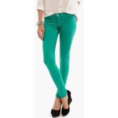 Color Skinny Jeans ❤ liked on Polyvore