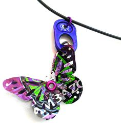 Amazon Butterfly Pop Tab Necklace