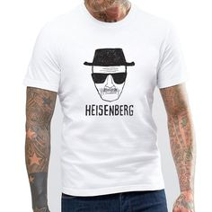 Breaking Bad Hand Painted Heisenberg T Shirts Men Los Pollos Hermanos Shirt Man Walter White Cool Tee I Am The One Who Knocks #Affiliate
