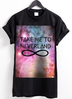 "Galaxy shirt ""Take me to neverland"" by Gossengold via DaWanda.com"
