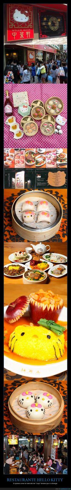 RESTAURANTE HELLO KITTY - Si quieres comer en este sitio tan ''cuqui'' tendrás que ir a Shangai