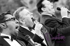 Martin Joseph and others re-inacting the Rat Pack for a wedding