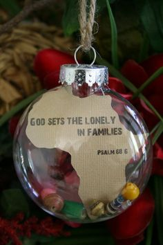 Africa Adoption Ornament. $15.00, via Etsy.