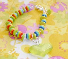 Taste the rainbow bracelet by NiNEFRUiTSPiE on Etsy, £3.50