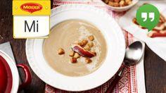 Die knusprigen Zimt-Chili-Croutons geben der leckeren Maronensuppe mit Entenbrust den letzten Pfiff. Wie du das Rezept ganz einfach zubereiten kannst, siehst du in unserem Video.