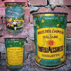 Antica Rara Scatola di Latta Fratelli Messinese - Granulare Effervescente