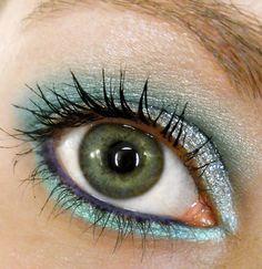 The Little Mermaid inspired eyeshadow #disney #makeup