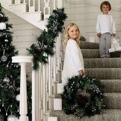 White and Silver Christmas Decor by The White Company | Interior Design Files