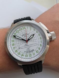 The Russian Navy canceled its Typhoon modernization program in March stating that modernizing one Typhoon would be as expensive as building two new Borei-class submarines. Black Leather Watch, White Leather, Stainless Steel Watch, Stainless Steel Bracelet, Russian Submarine, Watch Faces, Watch Brands, Chronograph, Bracelet Watch