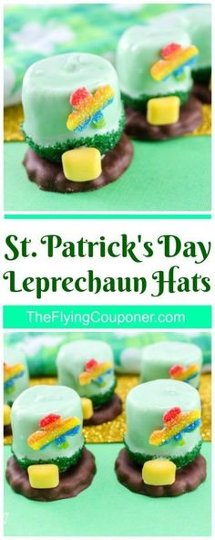 St. Patrick's Day Leprechaun Hats. Fun desserts and treats to make with the kids! Party Food. The Flying Couponer.