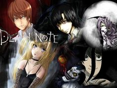 Death Note Characters: Light, L, Ryuk, Rem, Misa, that boy might possibly be Mello? Not sure