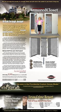 Armored Home Tornado Shelters - Bedroom Security Doors - Safe Rooms