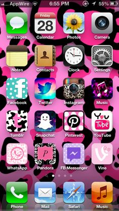 CocoPPa. Use the app CocoPPa, free from the AppStore, to decorate and change your icons on your home screen!