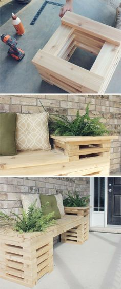 Pallet Furniture Ideas My.: 1 Year House Anniversary // My Favourite Home Projects to Date - Make these awesome outdoor bench projects for your backyard, porch or deck! Celebrate your garden in style with a DIY bench! Outdoor Projects, Diy Projects, Backyard Projects, Woodworking Projects, Woodworking Bench, Project Ideas, Weekend Projects, Popular Woodworking, Woodworking Classes