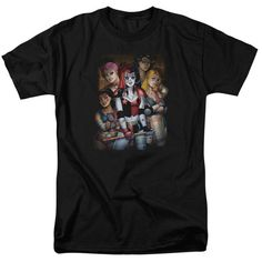 Behold the Harley Quinn - Bad Girls Adult T-Shirt. Now you can be part of the hype with this black colored, officially licensed t-shirt made of pre-shrunk cotton. This t-shirt is perfect for a true Harley Quinn fan. Guys And Girls, Short Girls, Graphic Tee Shirts, Printed Shirts, Batman T Shirt, Bad Gal, Personalized T Shirts, T Shirts For Women, Harley Quinn