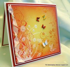 The Serendipitous Stamper: Emboss Resist and Sponged Background Tutorial