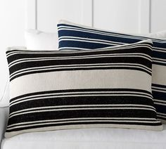 Awning Stripe Dhurrie Lumbar Pillow Cover