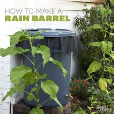 You can use rain water in your gardens thanks to this DIY rain barrel. Learn how to build a rain barrel to save water and to save money. Your plants will get the hydration they need, and your budget will be happy too. Diy Garden, Garden Landscaping, Home And Garden, Garden Living, Outdoor Projects, Garden Projects, Ways To Save Water, Water Barrel, All Nature