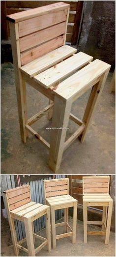 Cheap And Easy DIY Wood Pallet Projects – Furniture - Diy Furniture Recycled Pallet Furniture, Pallet Furniture Designs, Wooden Pallet Projects, Recycled Pallets, Diy Furniture Projects, Wood Pallets, Woodworking Projects, Pallet Wood, Diy Furniture Made From Pallets