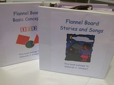 Quick tip for storing your preschool flannel board stories