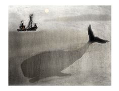 Whale and a boat. $25.00, via Etsy.