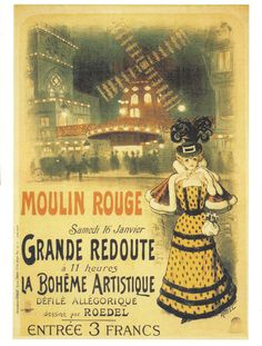 Moulin Rouge French Cancan in Paris Ad Poster Vintage French Posters, Vintage Travel Posters, Vintage Postcards, French Vintage, Vintage Advertisements, Vintage Ads, Vintage Signs, Moulin Rouge Dancers, Expo Paris