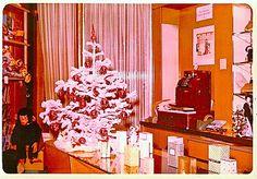 1960s Christmas Tree Counter Display