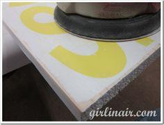 Stencil using transfer paper & distressing method