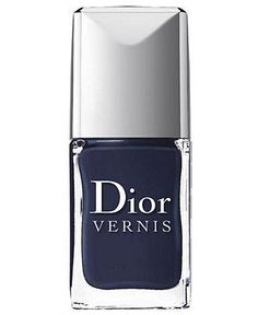 We simply love the look of navy nails, especially Dior Vernis in Blue Label