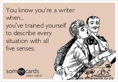All 5 senses...