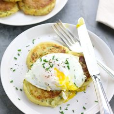 Irish potato cakes with chives, great for St.Patrick's day breakfast or for your weekend brunch.